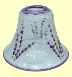 Llum per Vela de Vidre amb Motius Blaus - 1 unitat