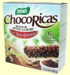 Chocoricas - Barretes d'arròs i cacau Sense Gluten - Santiveri - 6 barretes + *