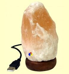 Llum de Sal connexió USB Llum Taronja - 600 grams
