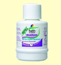 Recàrrega Desodorant Roll on - Alum, Aloe i Camamilla - Faith in Nature - 50 ml