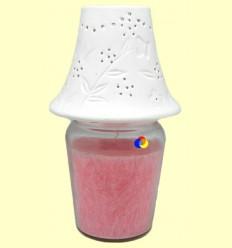 Llum per a vela floral blanca - 1 unitat