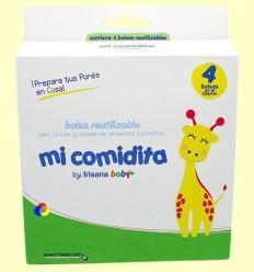 MI comidita - Borsa reutilitzable per portar i conservar aliments infantils - 4 bosses