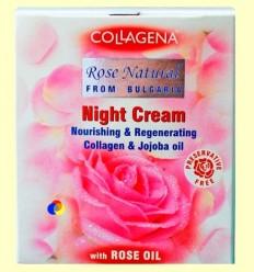 Crema de Nit amb Oli de Roses, Àcid Hialurònic - col·làgena - 50 ml