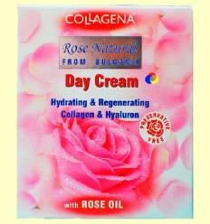 Crema de Dia amb Oli de Roses, Col·lagen, Àcid Hialurònic i Vitamina C - col·làgena - 50 ml