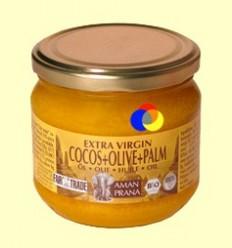 Oli de Coco, Oliva i Palma Roja Bio Extra Verge - Amanprana - 325 ml