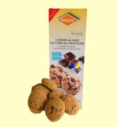 Galetes amb Blat de moro amb Xips de Xocolata Sense Gluten - Singlu - 95 grams