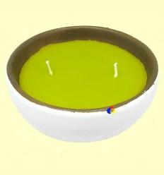 OFERTA-30% - Vela Citronela Bol Ceràmica Doble Metxa - Aromalia - 14 cm