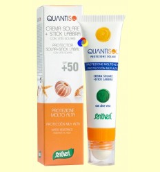 Crema Solar + Estic Molt Alta SPF 50 - Quantisol - Santiveri - 30 ml + 5 ml