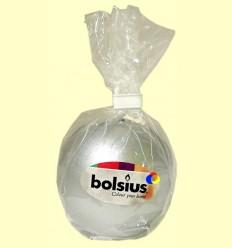 Vela Bola Romanç 7 cm - Bolsius - Color Plata