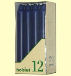 Veles Bugia - Bolsius -Color Blau fosc- 12 espelmes