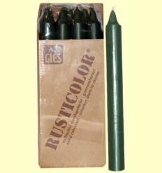 Veles Bugia - Gies - Color Verd - 12 espelmes