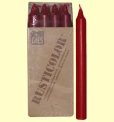 Veles Bugia - Gies - Color Granat - 12 espelmes