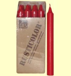 Veles Bugia - Gies - Color Vermell - 1 espelma