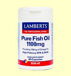 Oli de Peix Pur 1100 mg (EPA 360 mg / DHA 240 mg) - Lamberts - 60 càpsules