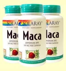 Maca - Solaray - Pack 3 unitats de 100 càpsules de 525 mg