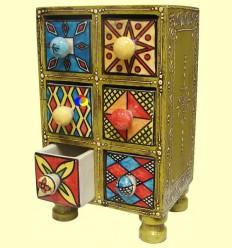 Especier de Fusta i Ceràmica - Signes Grimalt - Sis Calaixos + *