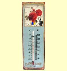Termòmetre Paret de Metall Dibuix Roses - Signes Grimalt ******