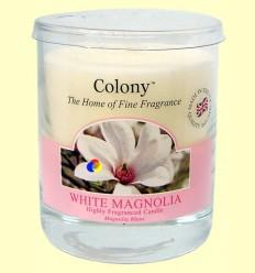 Vela de Cera Perfumada per a la llar - Aroma Magnolia Blanca - Colony