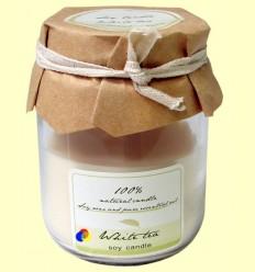 Vela de Cera Perfumada aroma Te Blanc - Color Baby - Got vidre 6x9 cm