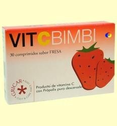 Pròpolis Vitamina C Bimbi Maduixa - Gricar - 30 comprimits