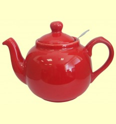 Tetera Ceràmica Vermella amb filtre metàl·lic - London Pottery - 600 ml