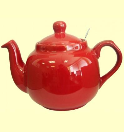 Tetera Ceràmica Vermella amb filtre metàl·lic - London Pottery - 1200 ml