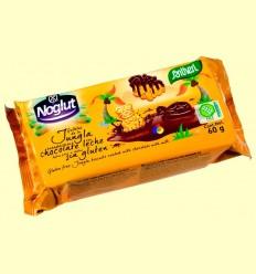 Galetes de la Jungla banyades amb xocolata amb llet Noglut - Sense Gluten - Santiveri - 60 grams