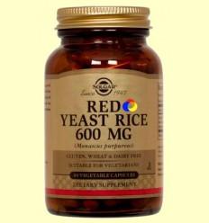 Llevat Roja d'Arròs - Red Yeast Rice - Solgar - 60 càpsules *
