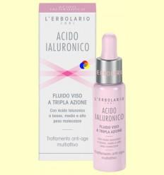 Àcid hialurònic - Fluid cara - Triple acció - L'Erbolario - 28 ml