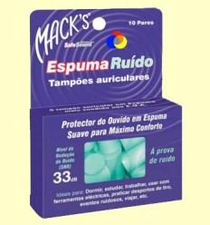 Taps per les orelles d'escuma Safesound - Mack 's - 5 parells