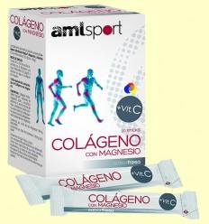 Col·lagen amb Magnesi + Vit C Sabor maduixa - amlsport - 20 sticks