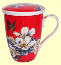 Tassa per infusions amb tapa - Signes Grimalt - Dibuix Flors