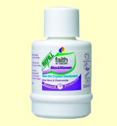 Recàrrega Desodorant Roll on - Alum, Aloe i Camamilla - Faith in Nature - 50 ml