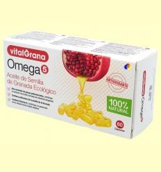 Omega 5 - Oli de llavor de magrana ecològic - Vitalgrana - 60 càpsules