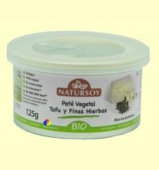 Paté vegetal Tofu i Fines Herbes - Natursoy - 125 grams