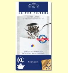 Filtres de Te - Extra Large - Finum - 60 filtres XL