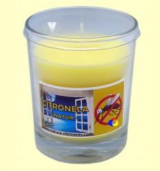 Vela en got vidre de citronela - Aromalia - 12 cm