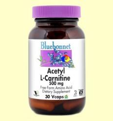 Acetil L-Carnitina 500 mg - BLUEBONNET - 30 càpsules vegetals