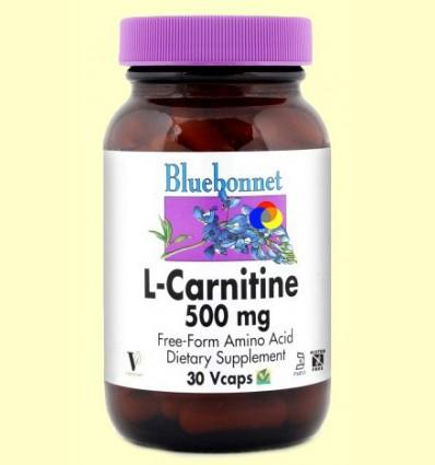 L-Carnitina 500 mg - BLUEBONNET - 30 càpsules vegetals