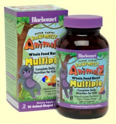 Super Earth Rainforest Animalz Multiple - BLUEBONNET - 90 comprimits masticables