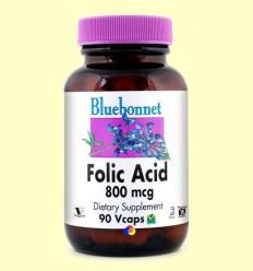 Àcid fòlic 800 mcg - BLUEBONNET - 90 càpsules vegetals