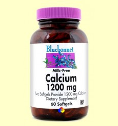Calci 1200 mg amb Vitamina D3 - BLUEBONNET - 60 càpsules toves