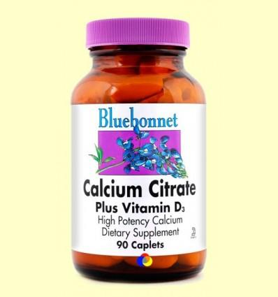 Calci Citrat amb Vitamina D3 - BLUEBONNET - 90 comprimits