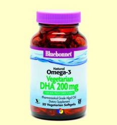 Natural Omega-3 Vegetal DHA 200 mg - BLUEBONNET - 30 càpsules toves *