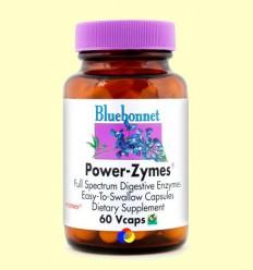Power-Zymes Enzims Digestives - BLUEBONNET - 60 càpsules vegetals