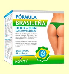 Detox + Burn Fórmula Brasilera - Novity - 60 + 60 comprimits
