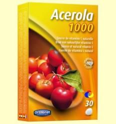 Acerola 1000 - Vitamina C - Orthonat - 30 comprimits