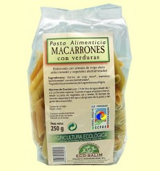 Macarrons amb Verdures Ecològics - Eco-Salim - 250 grams