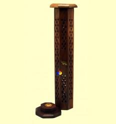 Porta Encens de fusta hexagonal - Tierra 3000