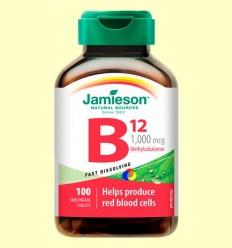 Vitamina B12 (metilcobalamina) 1000 mcg Sublingual - Jamieson - 100 tabletes